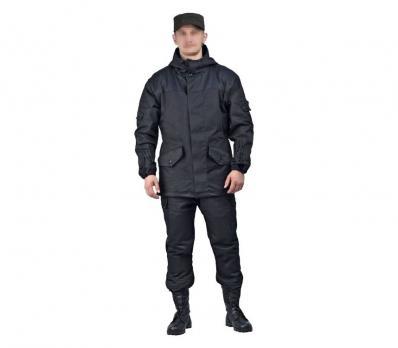 """Костюм """"ГОРКА"""" летний: куртка, брюки ( п-но палаточное ), черная"""