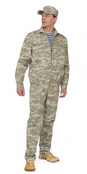 "Костюм ""РЫСЬ"": куртка, брюки (тк. Рип-стоп) КМФ ""Пустыня"""