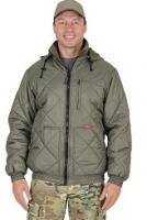 """Куртка """"Прага-Люкс"""" с капюшоном, оливковая"""