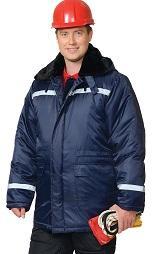"Куртка ""СЕВЕР-2"" дл.,зимняя, тк.Оксфорд, синяя"