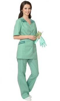 """Костюм """"ЖЕНЕВА"""" женский: куртка, брюки светлая мята с тёмно-зелёным"""