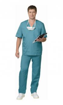 Костюм хирурга универсальный: блуза, брюки