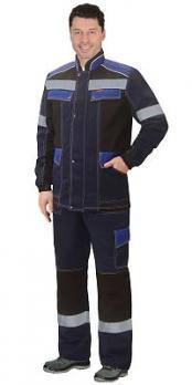 """Костюм """"Полином"""": куртка, брюки синий с черным"""